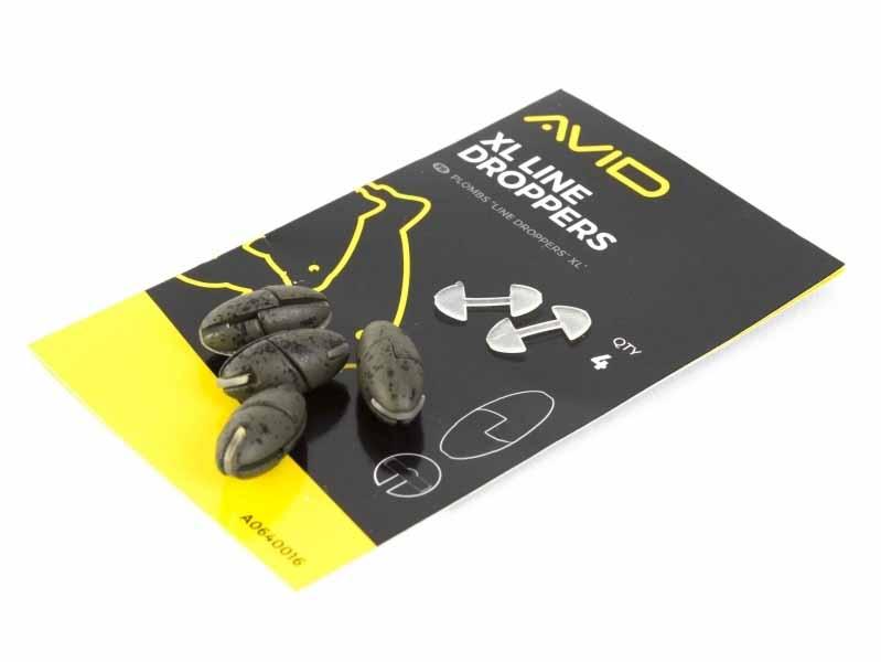 Огрузка для поводка Avid Carp Outline XL Line Droppers (4 шт. в упаковке)