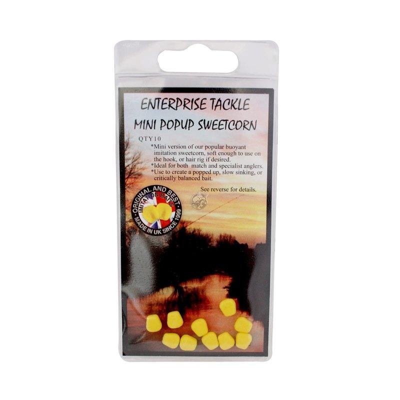 Плавающая кукуруза Enterprise Tackle Mini PopUp Sweetcorn Yellow Unflavoured