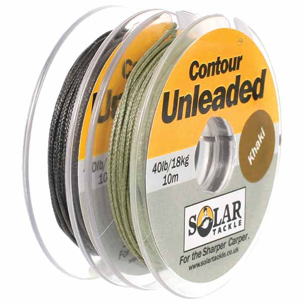 Ледкор без сердечника Solar Unleaded Spliceable Leader Khaki 40lb X 10 м.
