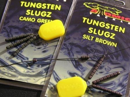 Утяжелитель для поводка Atomic Tackle Tungsten Slugs Silt Weed Green