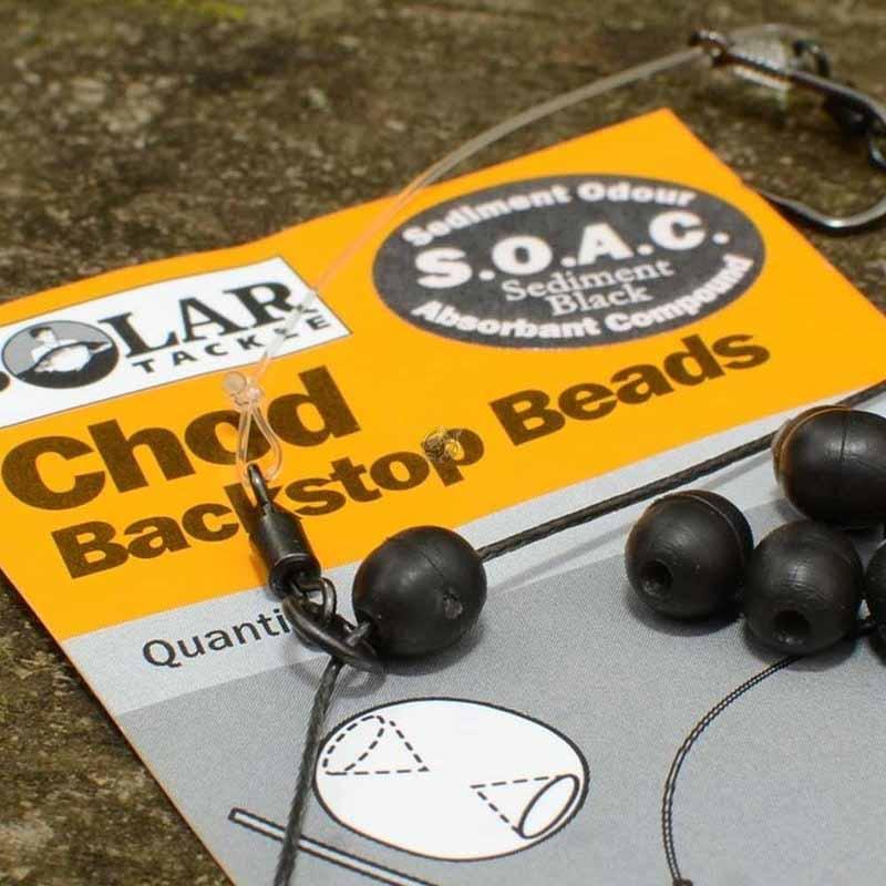 Бусина черная Solar Chod Backstop Beads Sediment Black
