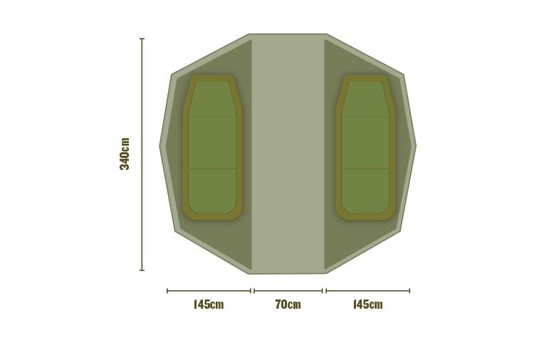 Внутренняя перегородка для палатки Trakker Superdome Bivvy Twin Sleep Capsule