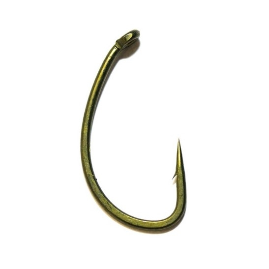 Крючок карповый Avid Carp Reaction Range Hooks Curved Shank № 8