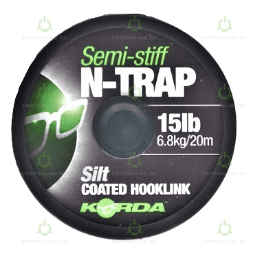 Поводковый материал Korda N Trap Semi Silt 15lb