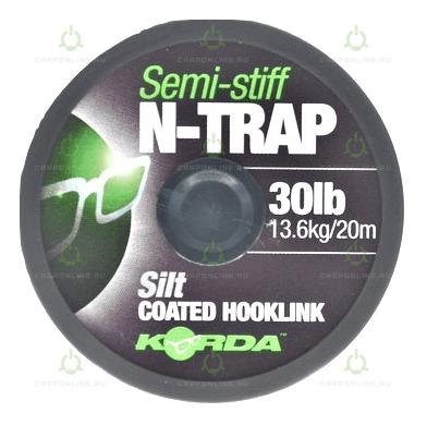 Поводковый материал Korda N Trap Semi Silt 30lb