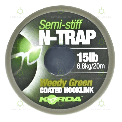 Поводковый материал Korda N Trap Semi Weedy Green 15lb