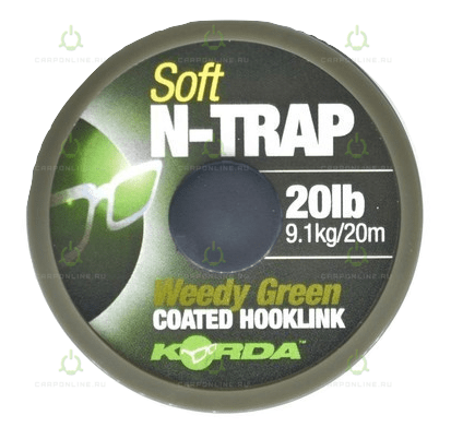 Поводковый материал Korda N Trap Soft Weedy Green 20lb