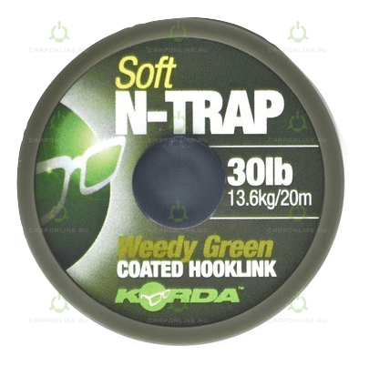 Поводковый материал Korda N Trap Soft Weedy Green 30lb