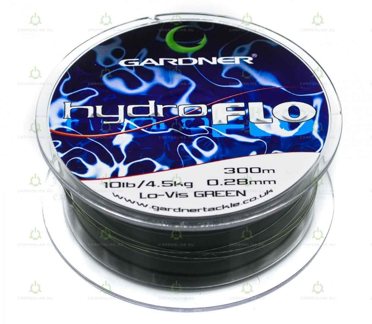 Леска Gardner Hydro-Flo 10lb GREEN 0.28 мм. 300 м.