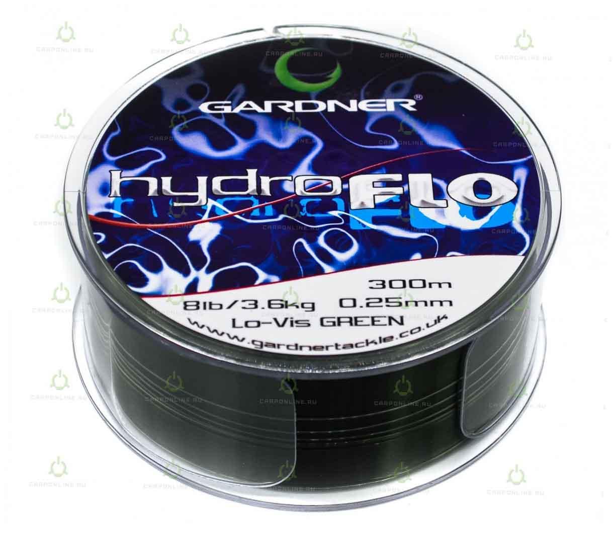 Леска Gardner Hydro-Flo 8lb GREEN 0.25 мм. 300 м.