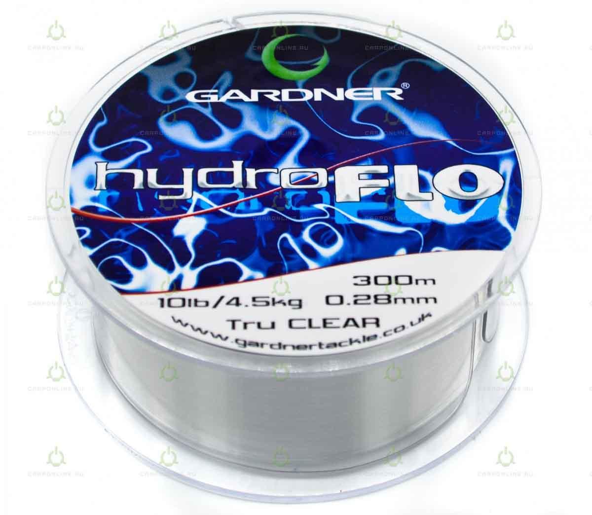 Леска Gardner Hydro-Flo 10lb Clear 0.28 мм. 300 м.