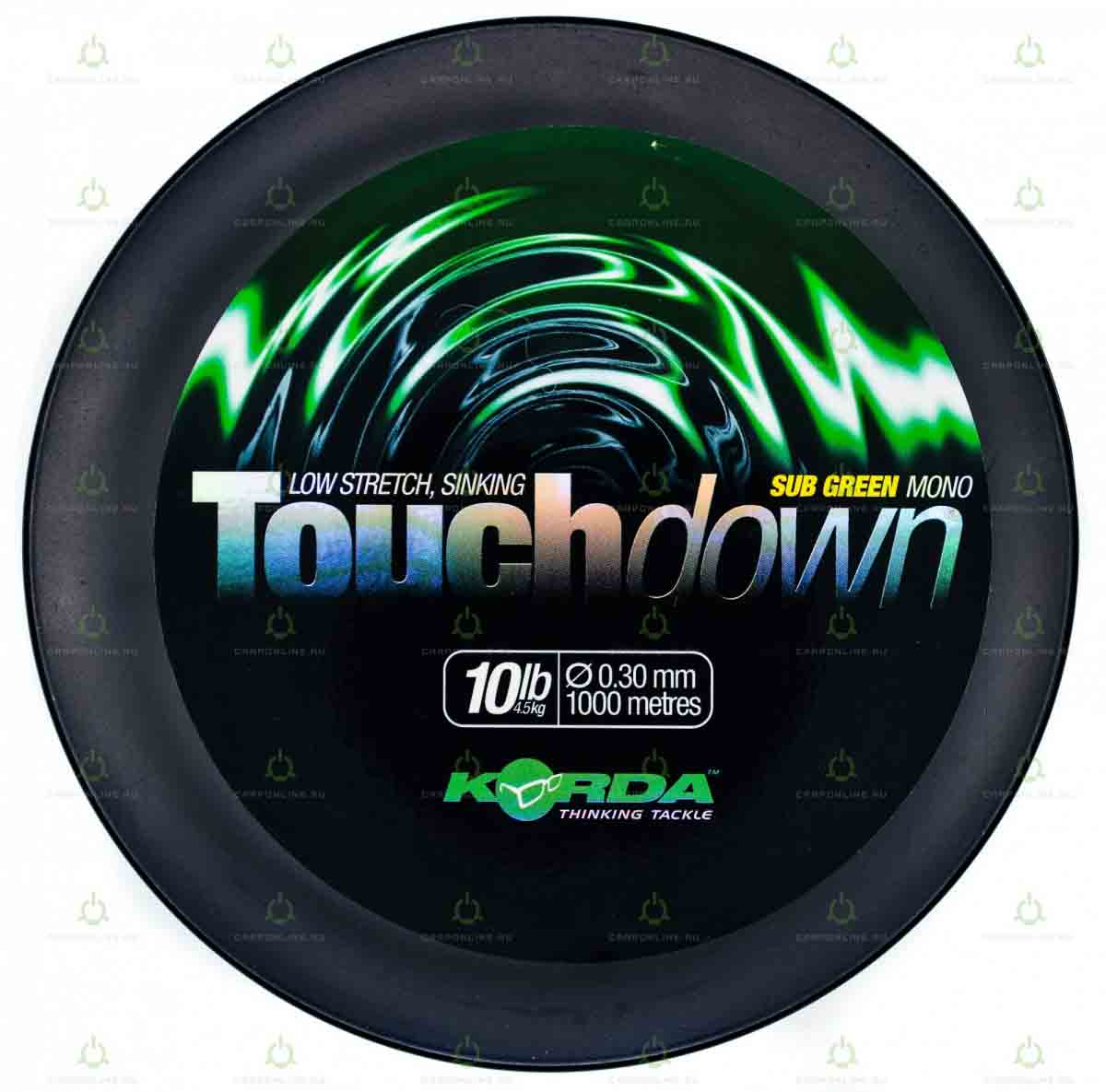 Леска Korda Touchdown Green 10lb 1000м