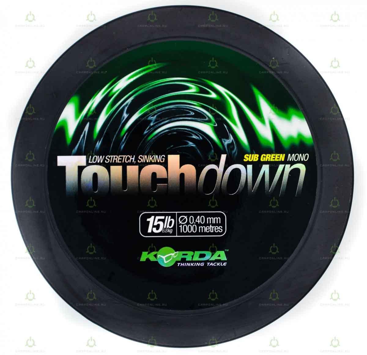 Леска Korda Touchdown Green 15lb 1000м