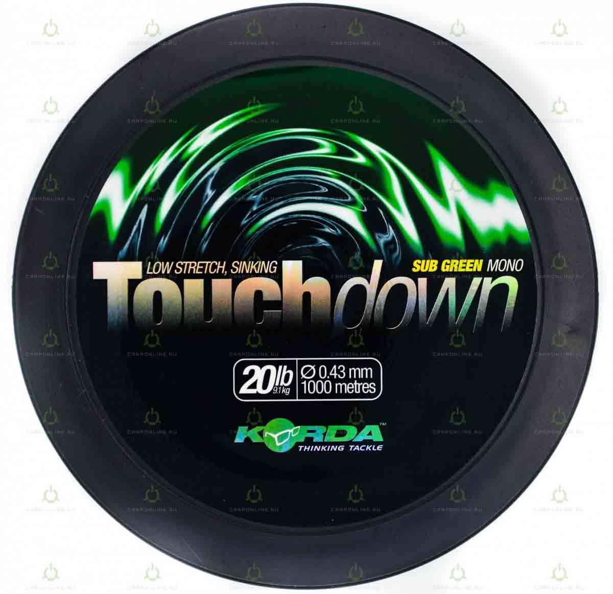 Леска Korda Touchdown Green 20lb 1000м