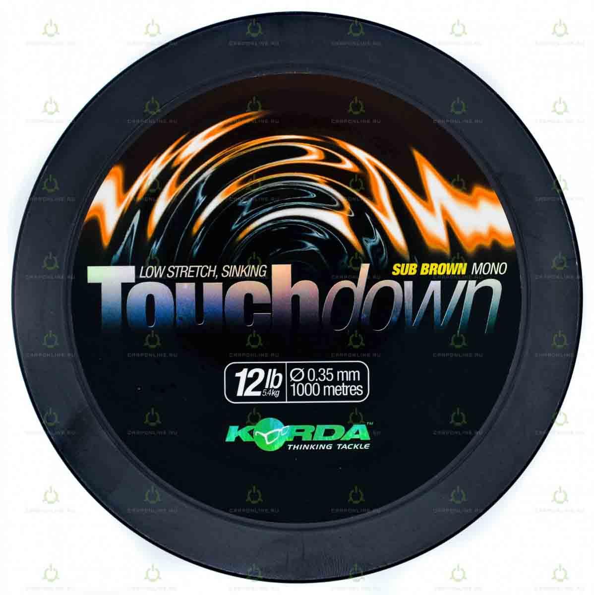 Леска Korda Touchdown Brown 12lb 1000м