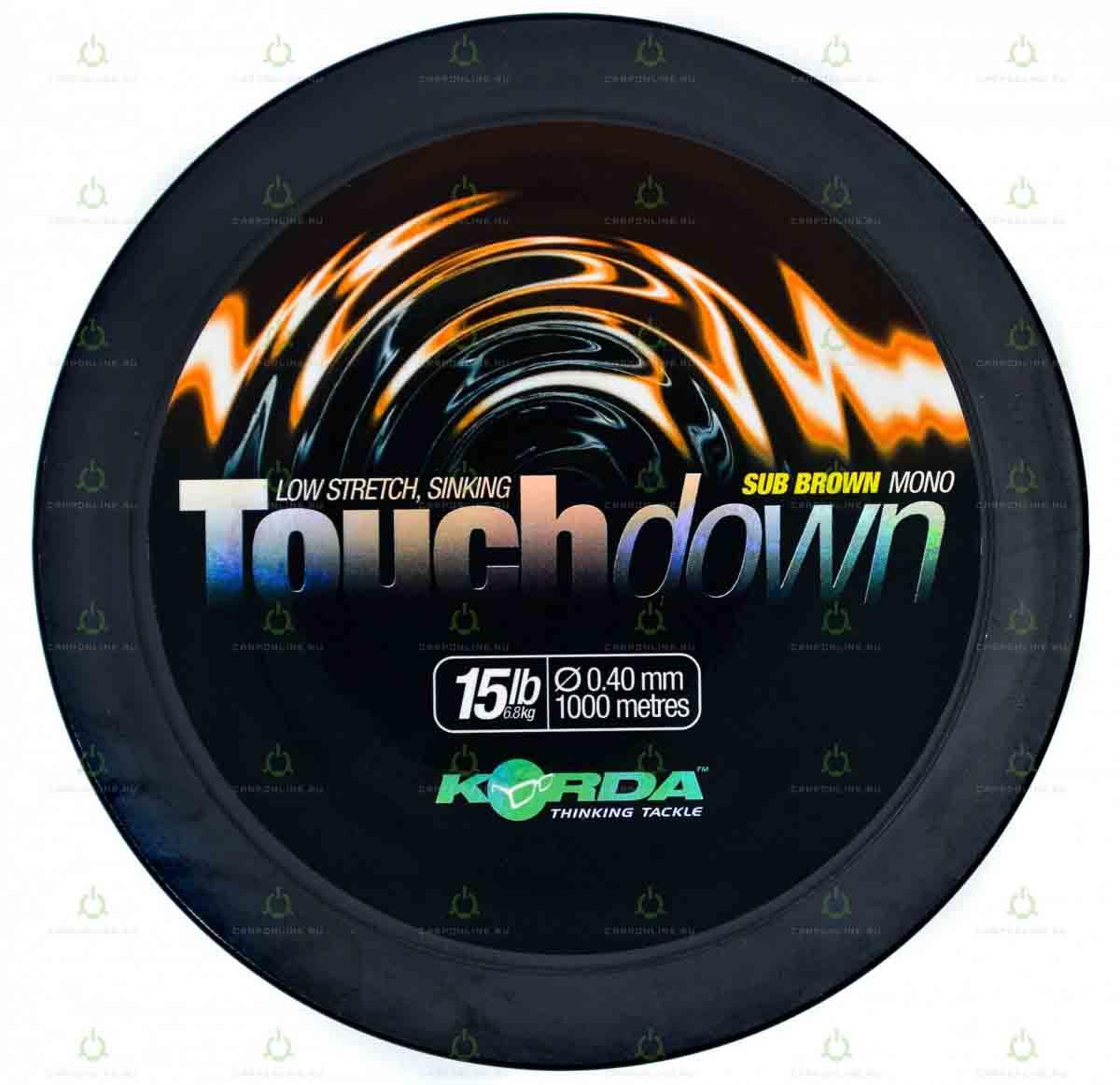 Леска Korda Touchdown Brown 15lb 1000м