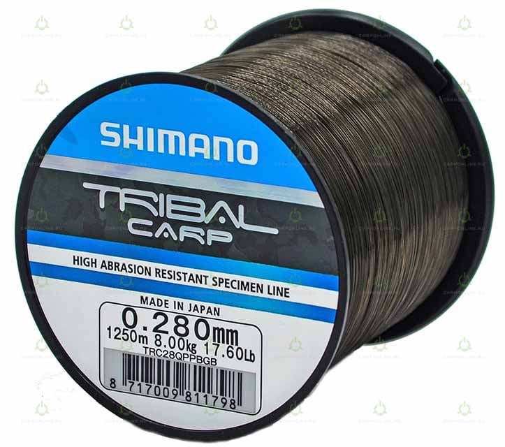 Леска Shimano Tribal Carp 1250 м. 0,28 мм. QP 8,0 кг.