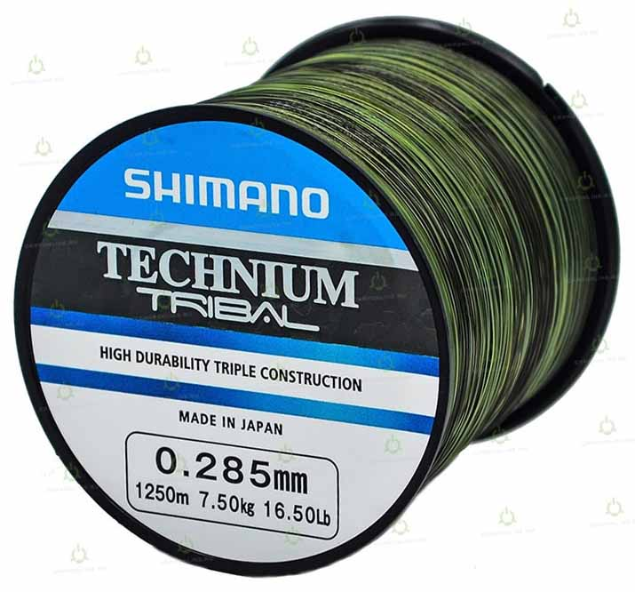 Леска Shimano Technium Tribal 1250 м. 0,285 мм. PB 7,5 кг.