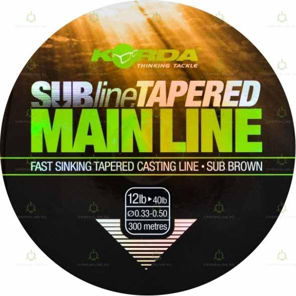 Леска коническая Korda Subline Tapered Mainline 0.33-0.50мм 300м