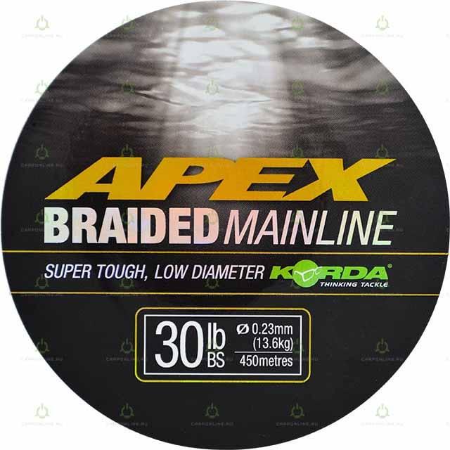 Шнур Korda Apex Braided Mainline 450м 30lb