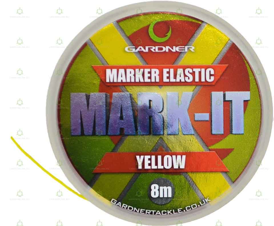 Маркерная резина Gardner MARK-IT Marker Elastic Fluoro Yellow 8 м.