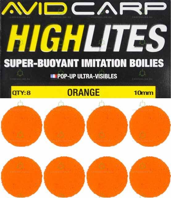 Набор поролоновых шариков Avid Carp High Lites 10mm Orange