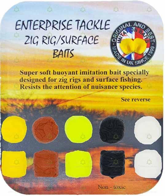 Искусственная плавающая насадка Enterprise Tackle Zig Rig/Surface Bait Mixed Colours