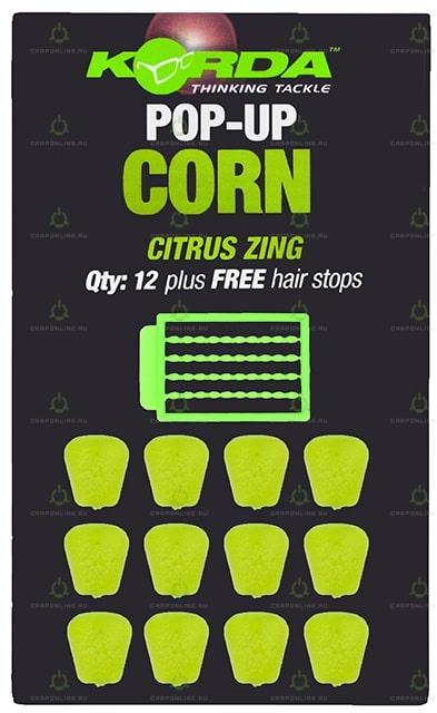 Имитационная приманка Korda Pop-Up Corn Citrus Zing