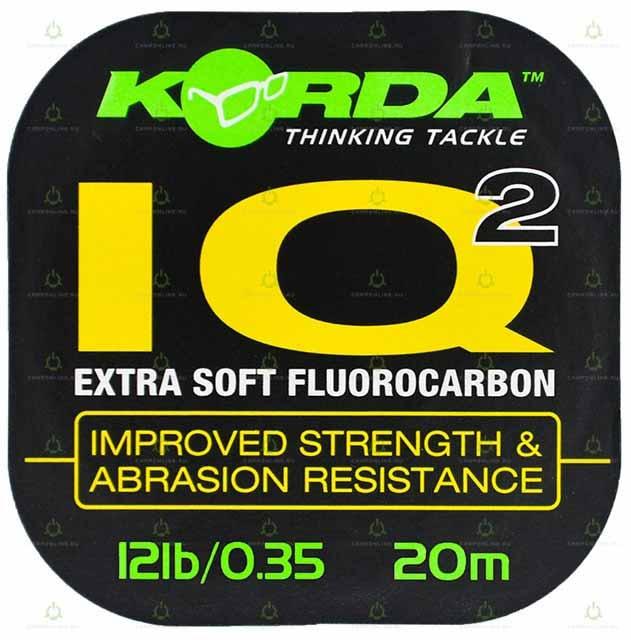 Поводковый материал Korda IQ2 Fluoracarbon d-0.35мм 20м