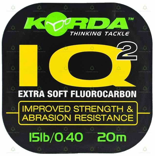 Поводковый материал Korda IQ2 Fluoracarbon d-0.40мм 20м