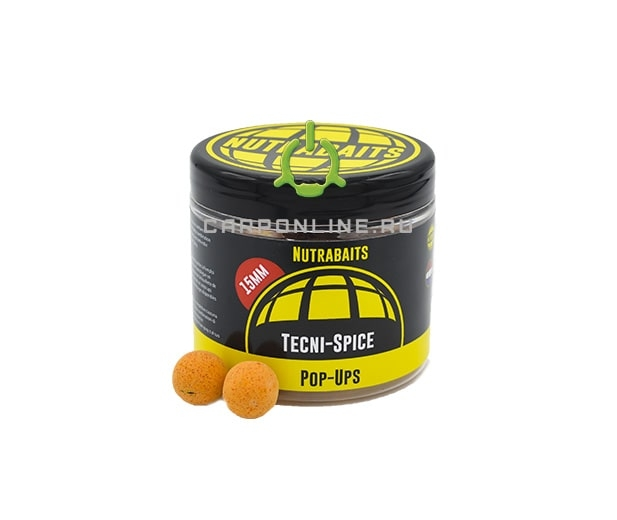 Бойлы плавающие Nutrabaits Pop-Ups Tecni Spice 15mm