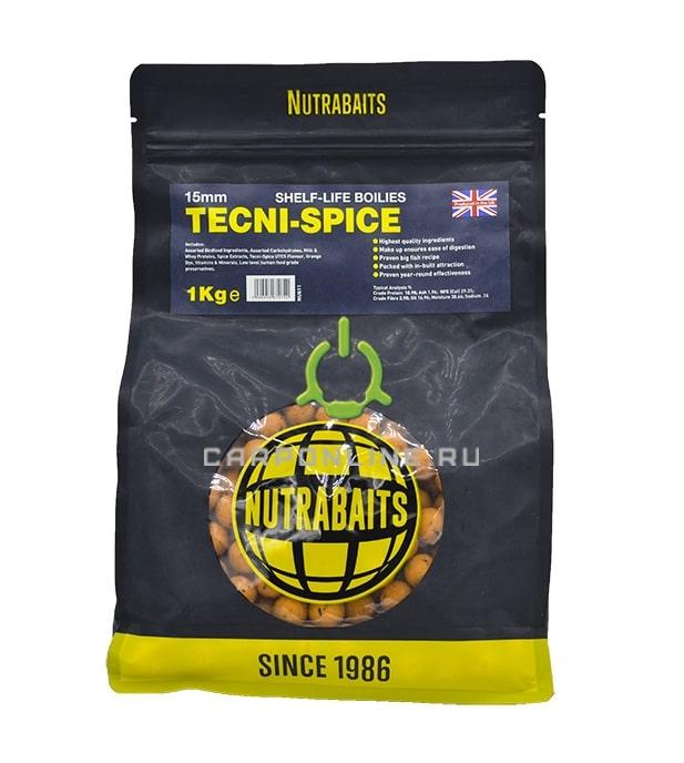 Бойлы shelf-life Nutrabaits Tecni Spice 15 мм