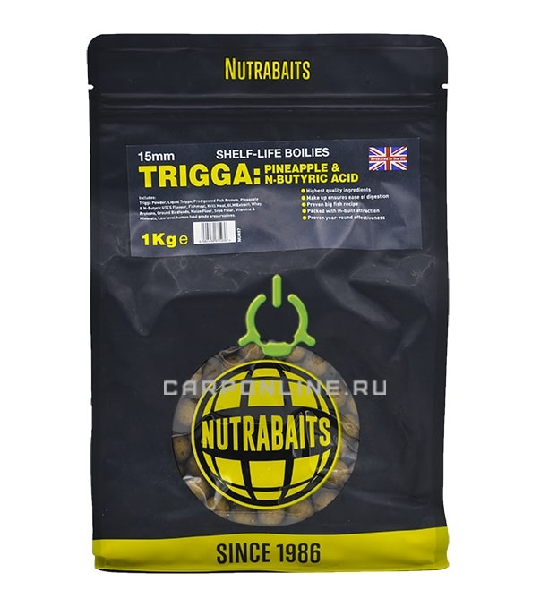 Бойлы shelf-life Nutrabaits Trigga: Pineapple&Butyric 15мм