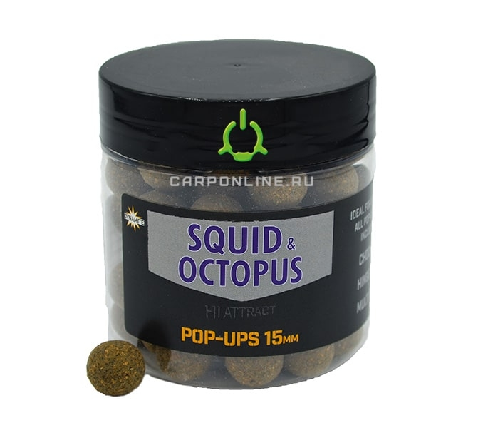 Бойлы плавающие Dynamite Baits Squid & Octopus Pop-ups 15 мм.