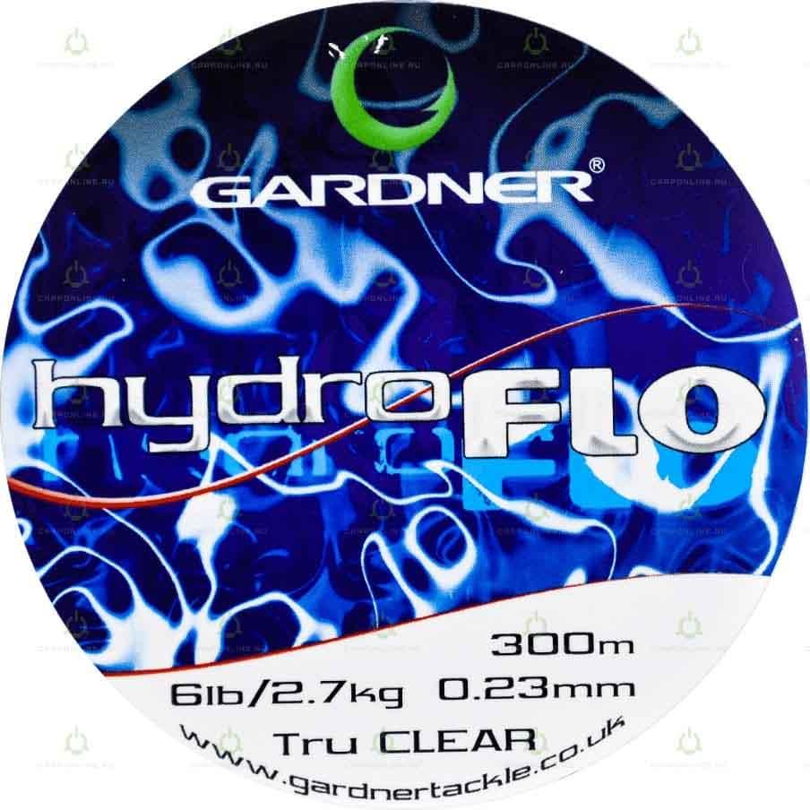 Леска Gardner Hydro-Flo 6lb Clear 0.23 мм. 300 м.