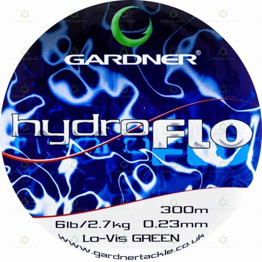 Леска Gardner Hydro-Flo 6lb GREEN 0.23 мм. 300 м.