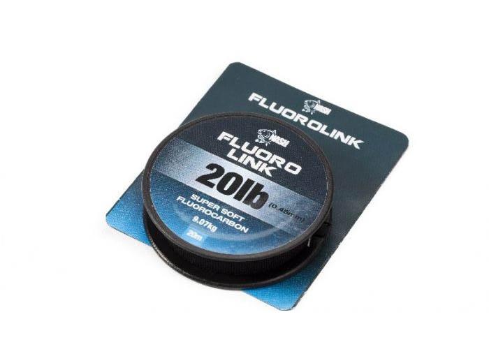 Поводковый материал флюорокарбоновый Nash Fluorolink 20LB