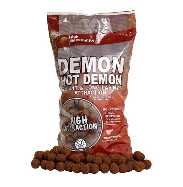 Бойлы тон. Starbaits Performance Concept HOT DEMON Long Life Boilies 20мм 2.5кг