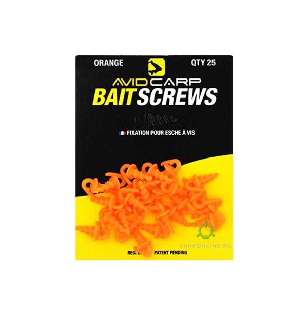Пластиковый шуруп для насадок Avid Carp Bait Screws Orange