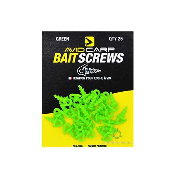 Пластиковый шуруп для насадок Avid Carp Bait Screws Green