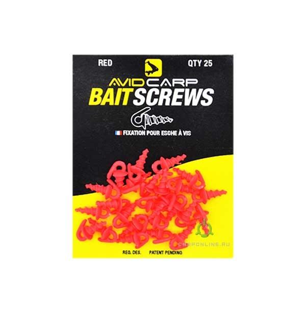 Пластиковый шуруп для насадок Avid Carp Bait Screws Red