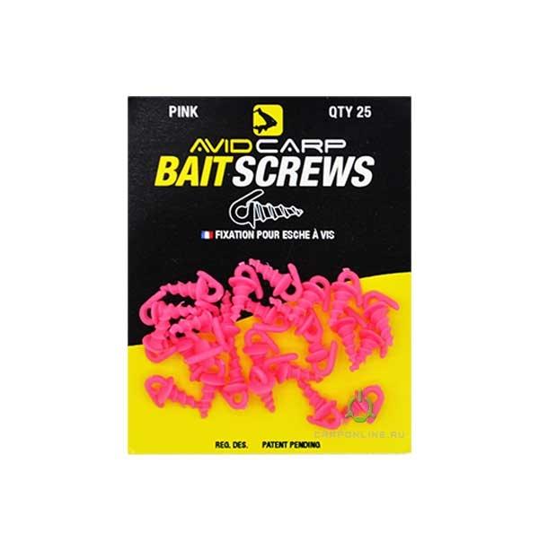 Пластиковый шуруп для насадок Avid Carp Bait Screws Pink