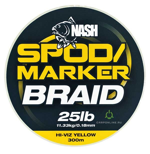 Леска плетеная Nash Spod & Marker Braid Hi Viz Yellow