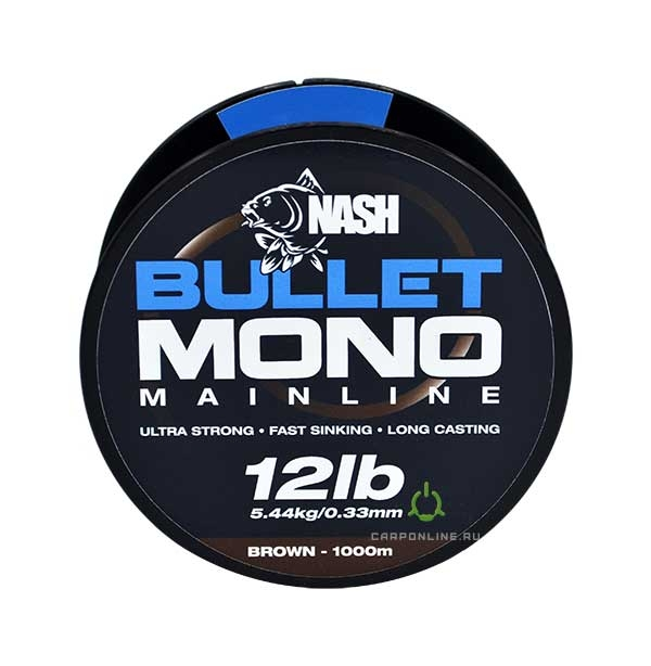 Леска Nash Bullet Mono 12lb Brown