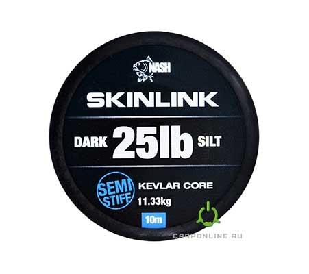 Поводковый материал в оплетке Nash SkinLink Semi-Stiff 25LB Silt
