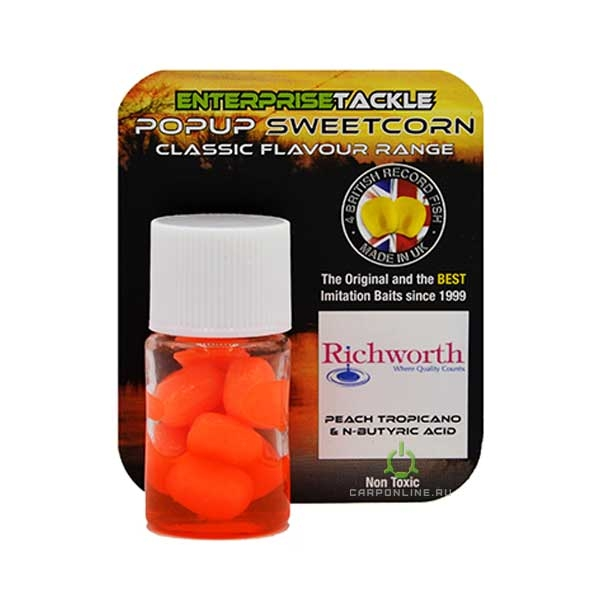Искусственная кукуруза в ароматизаторе Enterprise Tackle Peach Tropicano + N-Butyric Acid