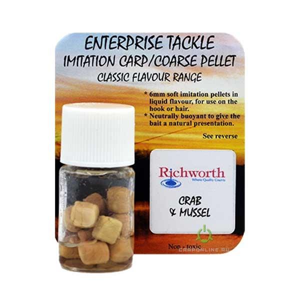 Искусственный пеллетс в ароматизаторе Enterprise Tackle Crab & Mussel