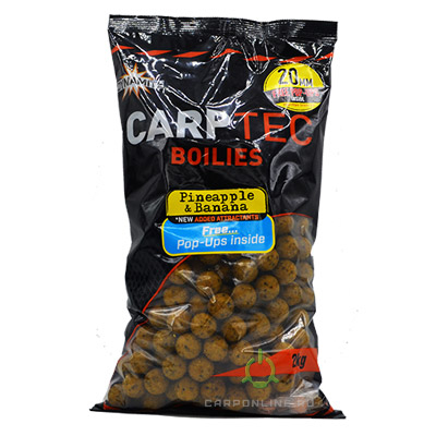 Бойлы тонущие Dynamite Baits 20 мм. Pineapple & Banana CarpTec 2 кг.