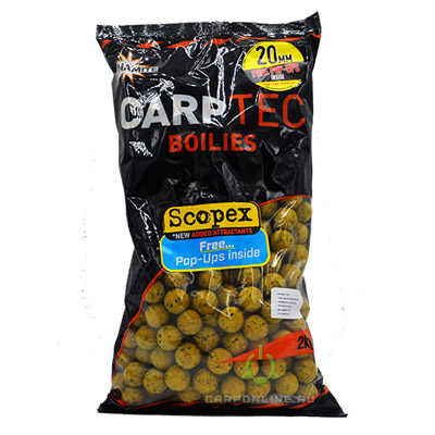 Бойлы тонущие Dynamite Baits 20 мм. Scopex CarpTec 2 кг.