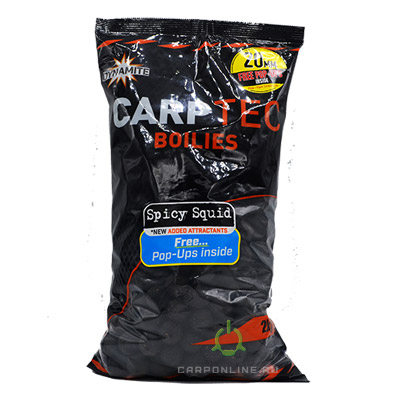 Бойлы тонущие Dynamite Baits 20 мм. Spicy Squid CarpTec 2 кг.